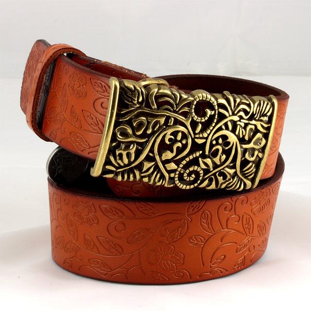 New ceinture femme belt hand real leather woven strap needle buckle casual style luxury female casual women belts