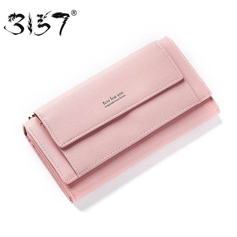 3157 Women Leather Wallet High Capacity Crossbody Bag For Girls Multiple Cards Purse Holder Phone Pocket Female Standard Wallets