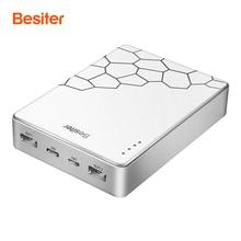 Besiter 10000 mah Charge Rapide pour Téléphones Intelligents Batterie Cellulaire De Charge Chargeur Type-C entrée D'alimentation Externe Banque Deux USB sortie