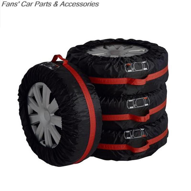 Spare Tyre Cover Garage Tire Case Polyester Winter Summer