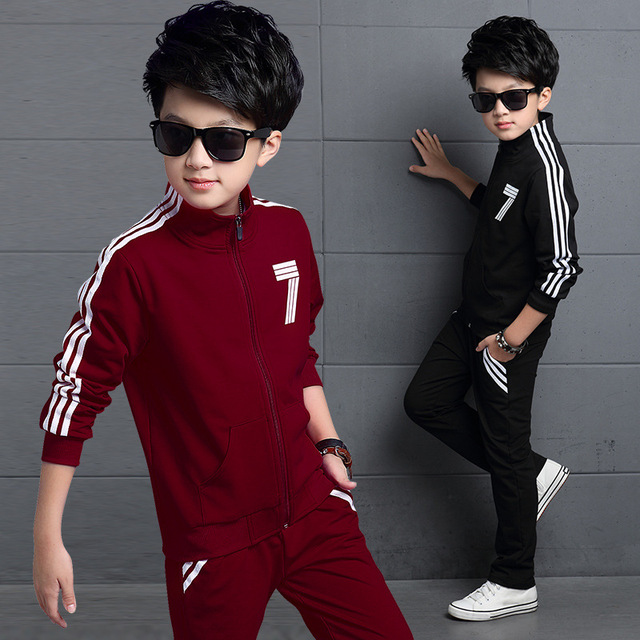 3 unids ropa del bebé fijó 7 carta blanca de manga larga camisa y pantalones infantil chicos chaqueta de la capa de la cremallera negro rojo niños ropa