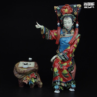 Shiwan doll master of fine ladies of ancient characters and ornaments study TV cabinet handmade ceramic crafts