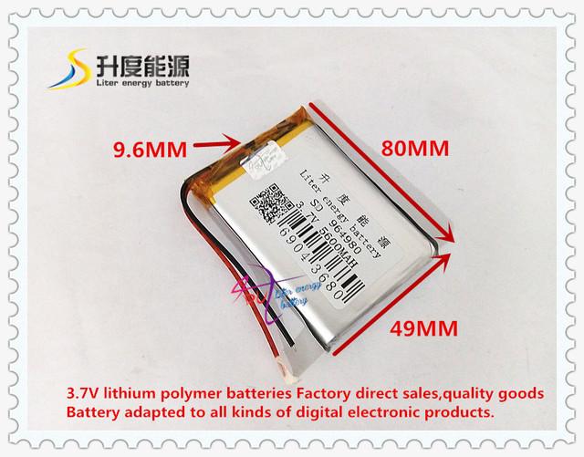 3.7 V 5600 mAh 964980 bateria De Polímero de iões de lítio/bateria do Li-íon (celular ATL) para tablet pc pipo cubo BANCO de POTÊNCIA telefone celular GPS