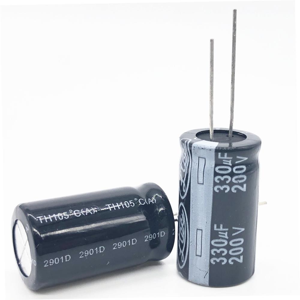 2pcs/lot 200V 330UF 18*35 20% RADIAL Aluminum Electrolytic Capacitor 330000nf 20%