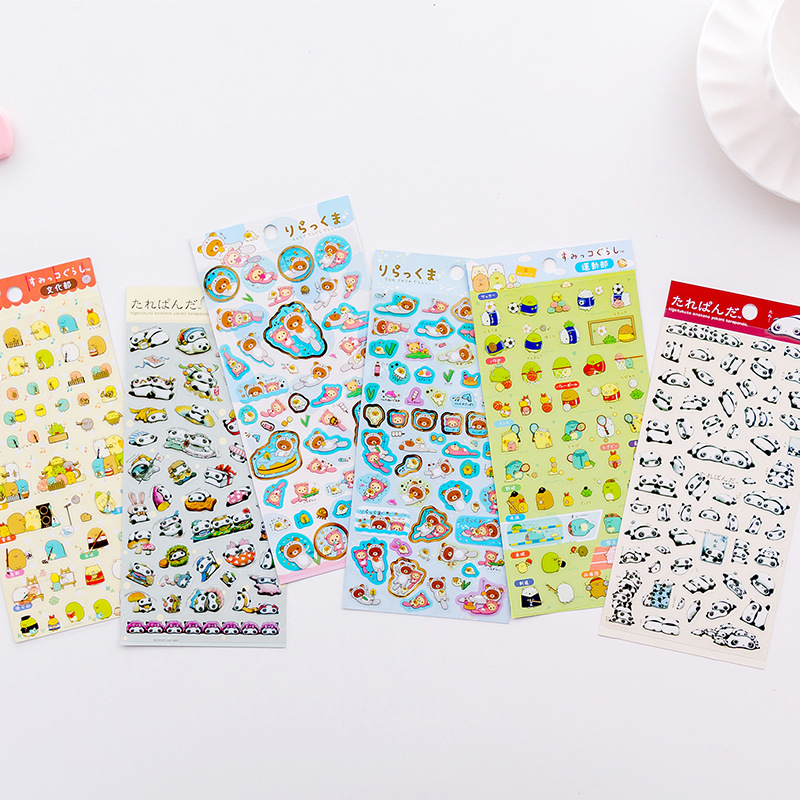 Sumikko Gurashi Rilakkuma Tarepanda Rilakkuma Decorative Stickers Scrapbooking Stick Label Diary Stationery Album Stickers
