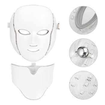 7Colors Light LED Face Massage Microcurrent Facial Mask Machine Photon Therapy Skin Facial Neck Mask Whitening Electric Device