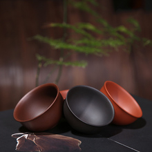 PINNY 2Pcs/Lot Yixing Purple Clay Teacups 30ml 55ml 75ml Hand Made Mud Tea Cup Chinese Kung Fu Set Natural Ore