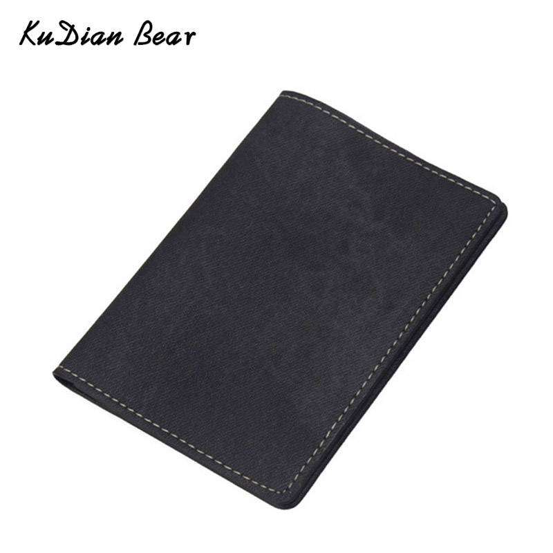 KUDIAN BEAR Passport Covers For Documents Solid Credit Card Holders Brand Passports Holder Travel Passport Wallet-- BIH036 PM49