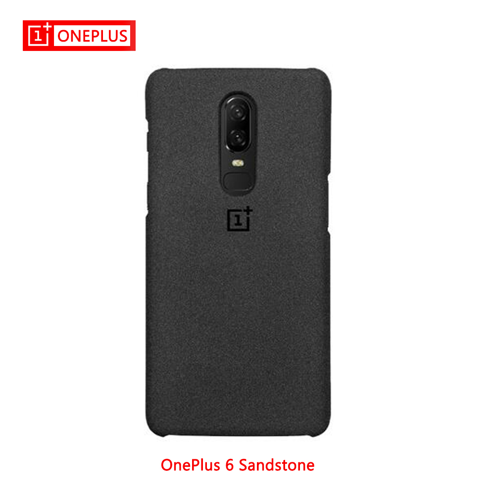 100% Original Oneplus 6 Case Cover Oneplus 6 Sandstone Case For Oneplus6 Official Product A6000 128GB Original BOX New