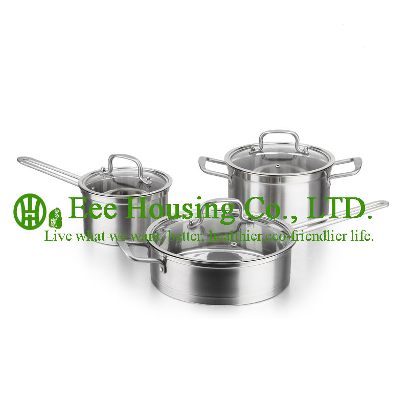 Stainless Steel Cookware Kitchenware Free Shipping Factory In China Hot Sale Cooking Set,fry Pan Wok,soup Pot,milk Pot Kitchen
