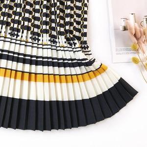 Image 2 - FATIKA Falda plisada para mujer, falda Faldas de cintura alta, elegante, de calle, 2019