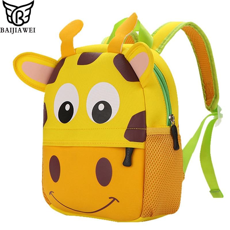 comprare popolare f378a e222e US $10.55 52% di SCONTO BAIJIAWEI Per Bambini Zainetto di Scuola Materna  Del Fumetto Zaino 3D Carino A Forma di Animale Bambini sacchetti di scuola  ...
