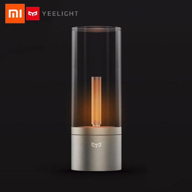 La commande intelligente originale de xiaomi YEELIGHT Candela a mené la lumière d'atmosphère de lumière de nuit pour la maison de mi app kits intelligents de maison de xiaomi