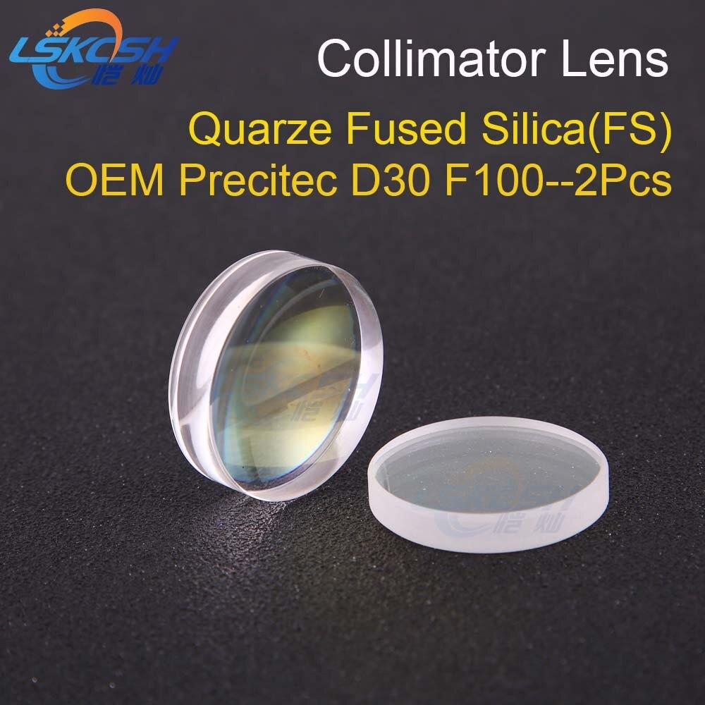 LSKCSH Spherical Collimating Lens D30 F100 2Pcs Precitec OEM Quartz Fused Silica for fiber laser precitec