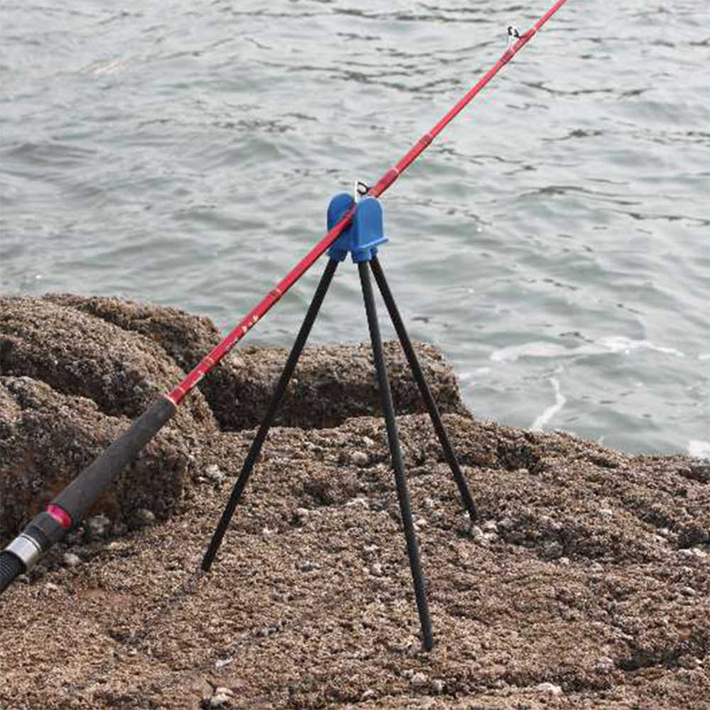 Erchang Sea Fishing Rod Protector Holder Rod Pole Holders Ground Support Stand with Tripod Stand for Sea Fishing