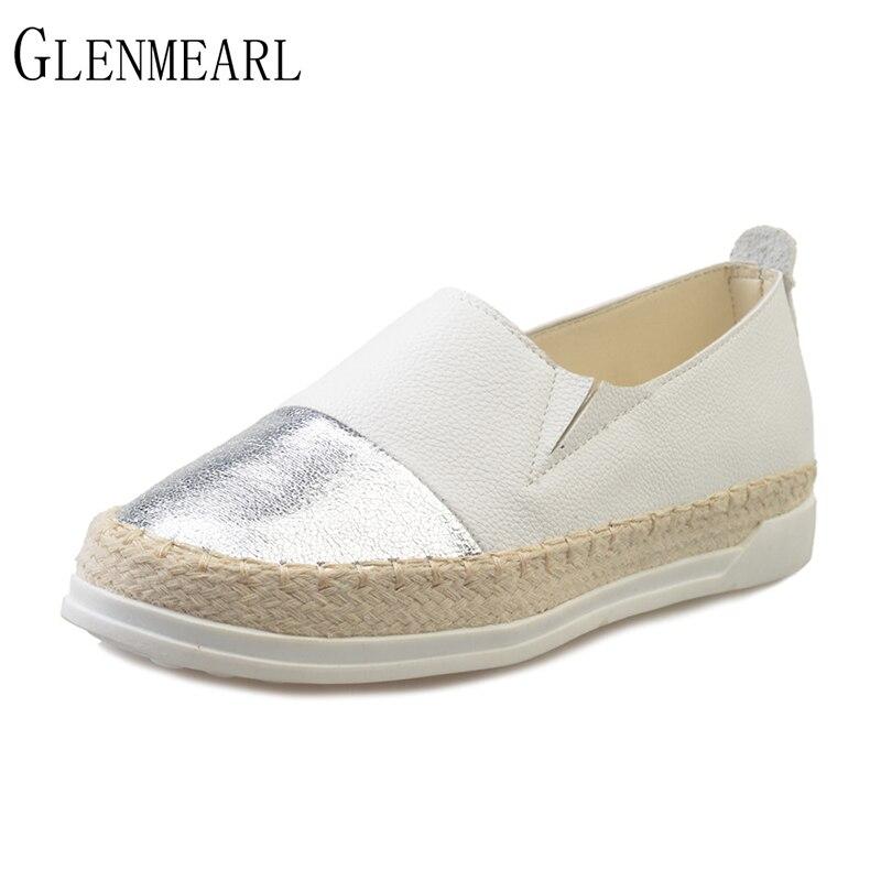 2019 Más el tamaño de primavera de las mujeres zapatos holgazanes - Zapatos de mujer