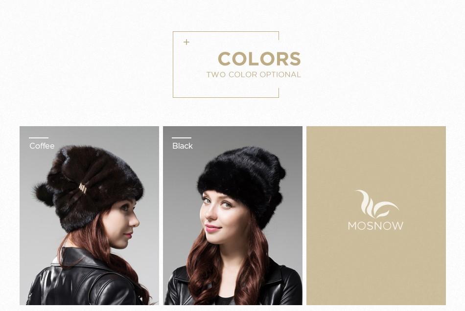 mink fur winter hats for women PCM028 (6)