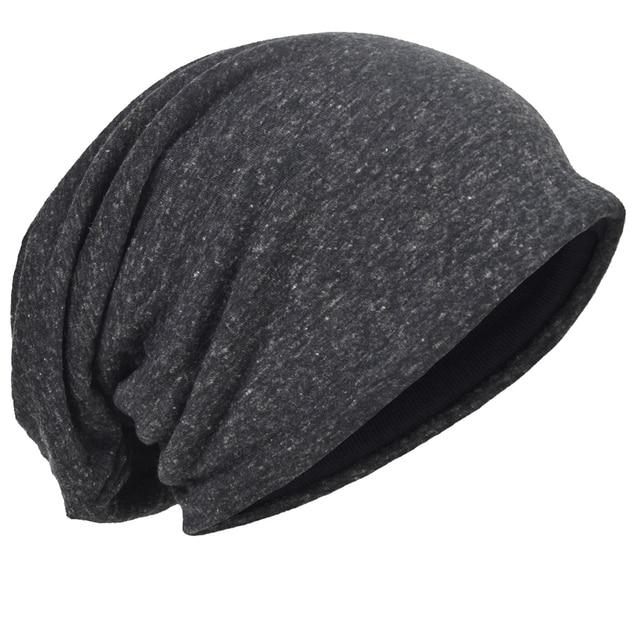 99f178a8db8 HISSHE Jersey Slouchy Beanie Skull Cap Long Baggy Cool Hip-hop Skullcap  Soft Thin Summer Hat for Men Women