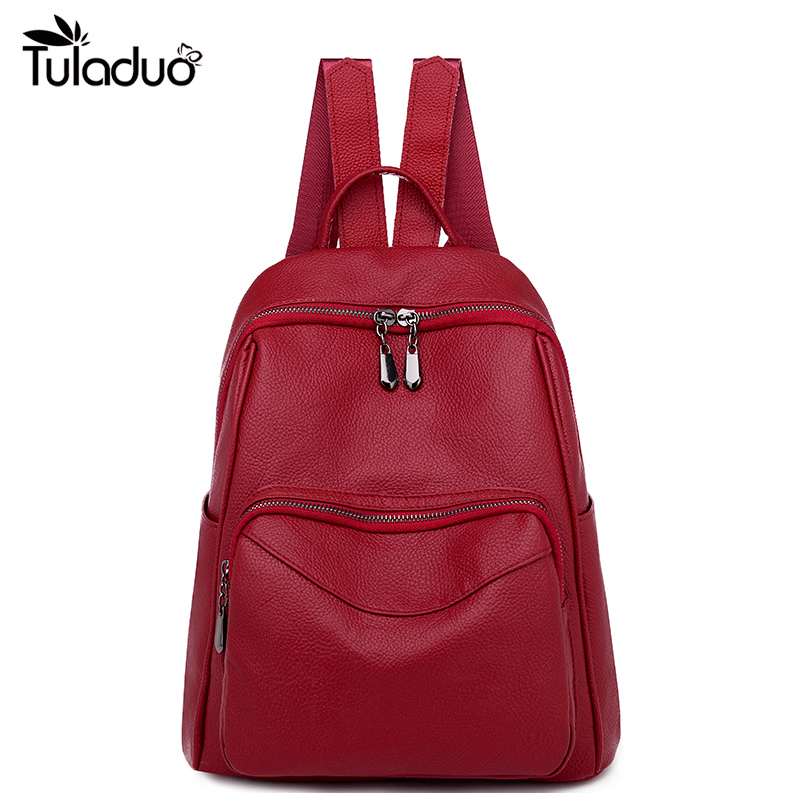 Women Casual Backpack Genuine Leather Fashion Causal Bags High Quality Cowskin Female Shoulder Bag Trendy Backpacks For Girls