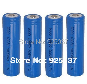 Wholesale 18650 Battery 5000mAh For Led Flashlight,18650 Battery 5000mAh 3.7V Rechargeble Battery 4PCS/LOT