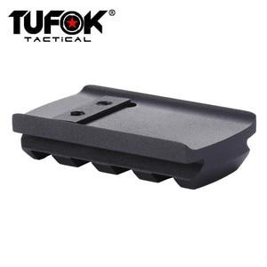 Image 3 - TuFok Glock Plate G17/19/22/23/26/27/34 Glock Mount For Viper Sightmark Burris Red Dot Sight  Picatinny Rail Adapter Base