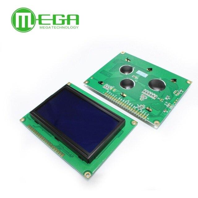 12864 128x64 도트 그래픽 노란색 녹색/파란색 백라이트 lcd 디스플레이 모듈 st7920 arduino diy 키트 용 병렬 포트