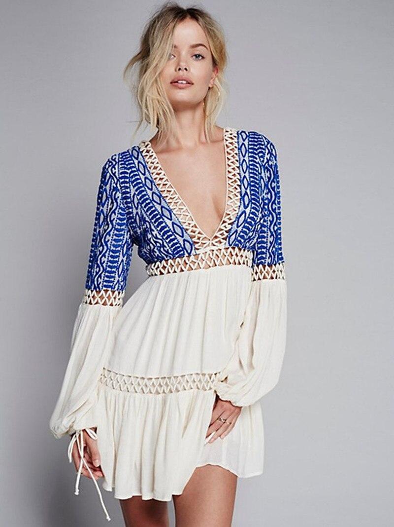 Spell Lola Bohemian Dress in Beige (CREAM) | Lyst