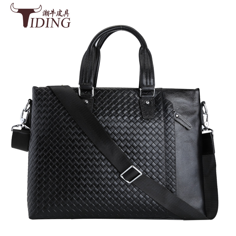 Brand Elegance Business Men Briefcase Bag Cow  Leather 14 inch Laptop Men Bag, Casual Man Shoulder Bags maleta Genuine leather brand kangaro top sell man bag fashion simple famous brand business men briefcase bag leather laptop bag casual shoulder bags
