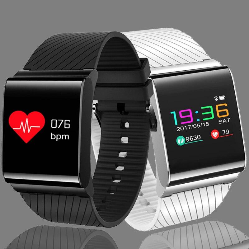 LIGE Novo Homens Pulseira de Relógio Inteligente para a Pressão Arterial de Oxigênio No Sangue De Detecção da Frequência Cardíaca Relógio com UMA Tela Colorida OLED relógio + Caixa