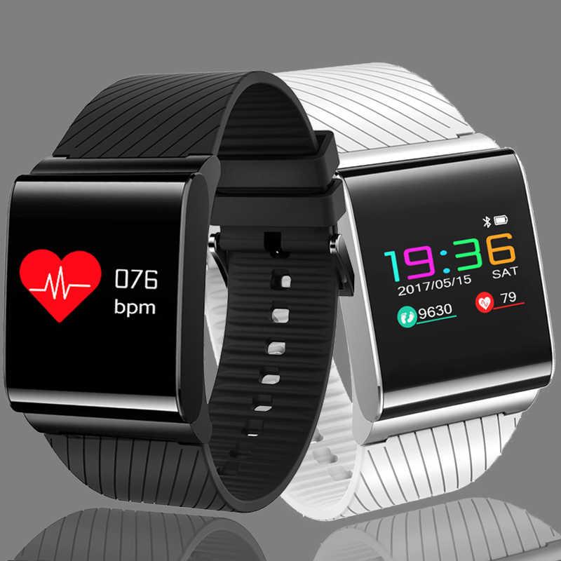 LIGE جديد سوار ذكي الرجال ساعة ل ضغط الدم الدم الأكسجين رصد معدل ضربات القلب ساعة مع شاشة ملونة OLED ساعة + صندوق