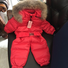 Fashion baby jumpsuit winter Rompers hooded children winter jumpsuit duck down baby boy girl rompers infant boy snowsuit overall