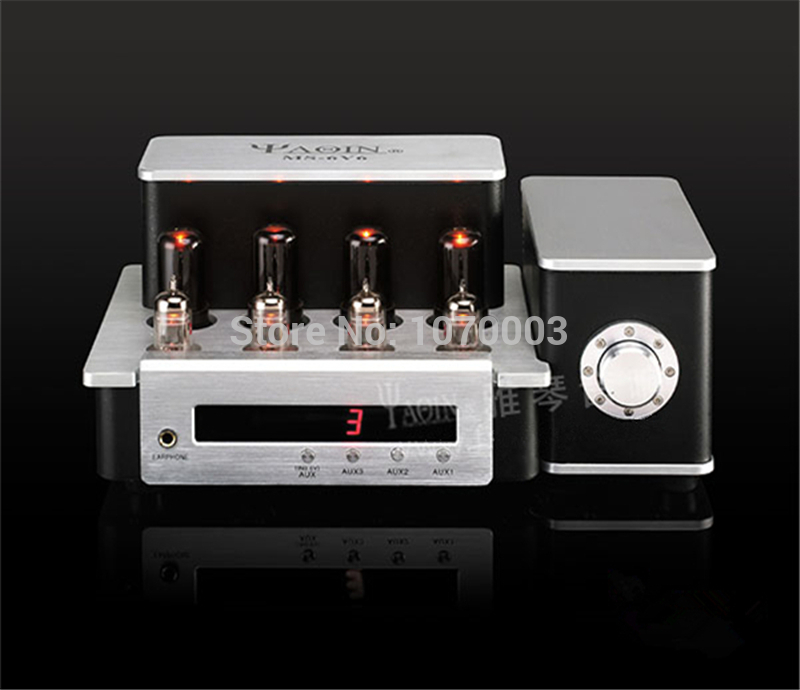 YAQIN MS-6V6 Integrated Vacuum Tube Amplifier SRPP Circuit 6P6Px4 Class AB1 Amplifier Earphone Headphone Amplifier 110V/220V yaqin ms 110b vacuum tube amplifier srppcircuit kt88 98x4 class ab1 amp 4 8 ohm headphone earphone amplifier 2 50w 110v 220v