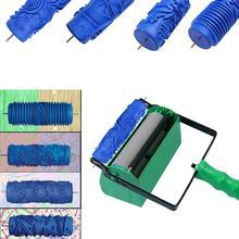 1 pc Geprägte Farbe Roller DIY Gummi Roller Hülse Wand Textur Schablone Pinsel Muster Decor Senden Gelegentliche