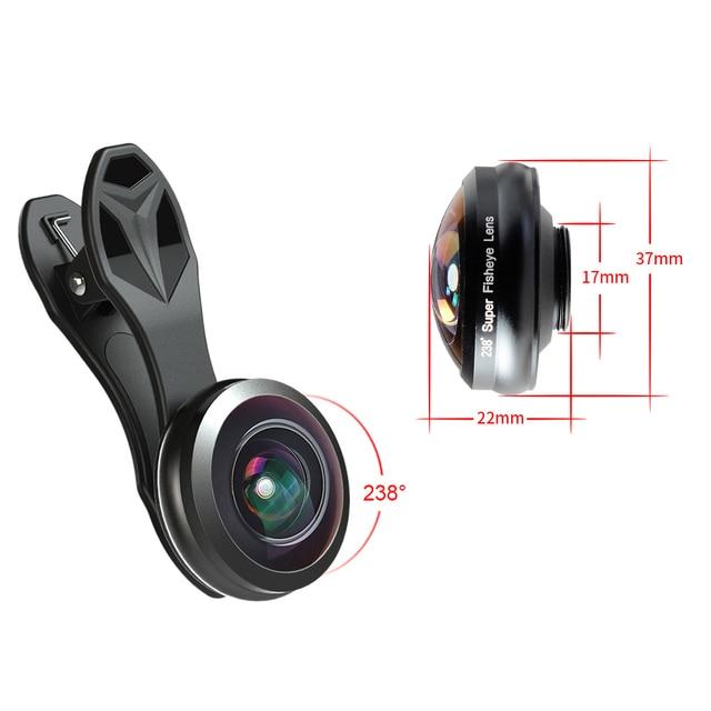 APEXEL 0.2X full frame 238 degree super fisheye lens super Wide ...