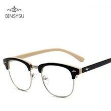 77b3604fed7 Moda remache de Metal Marco de gafas hombres miopía gafas marco mujeres de  prescripción gafas Vintage