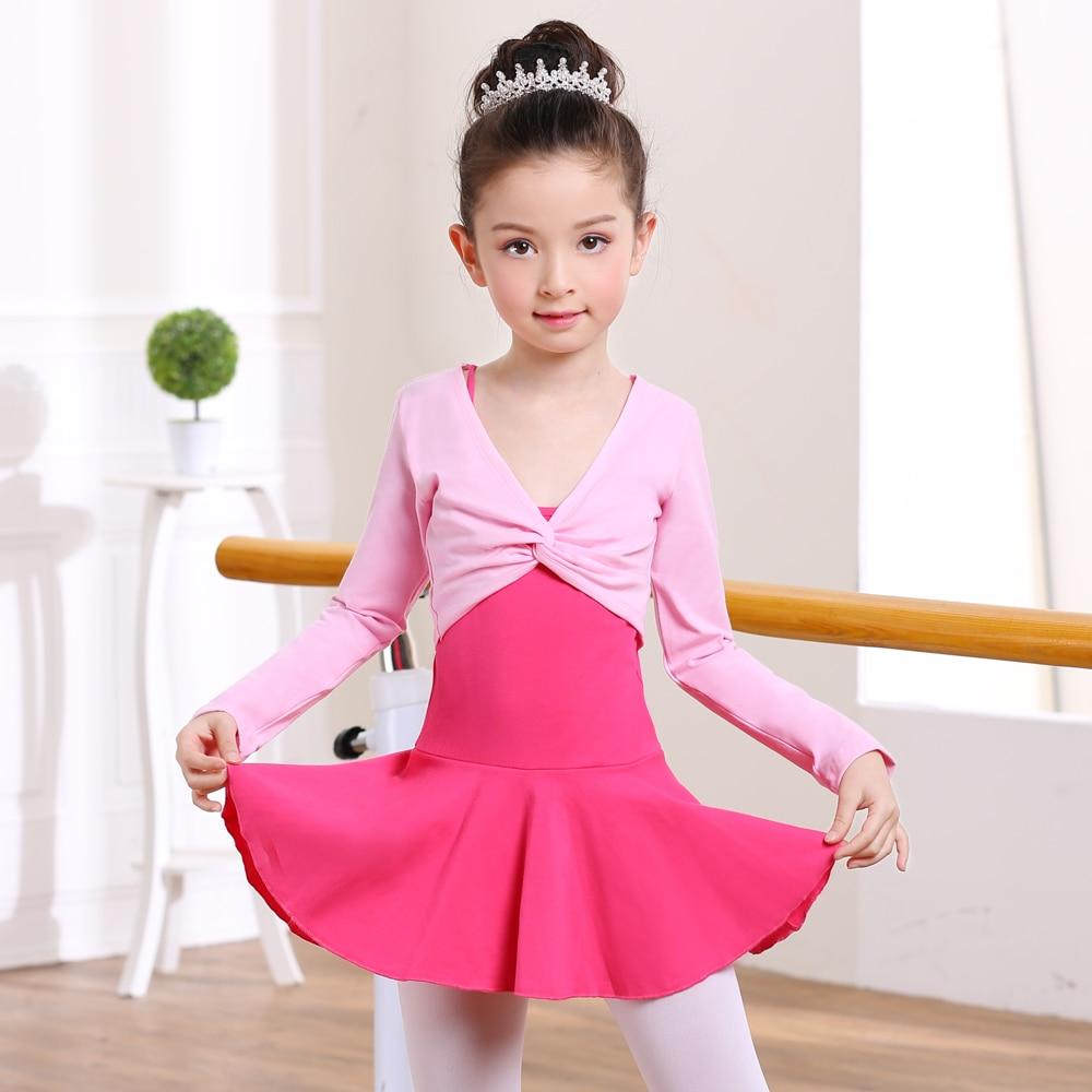 Girls Classic Ballet Dance Cardigan Wrap Top Warm Cotton Dress Cover Dancewear