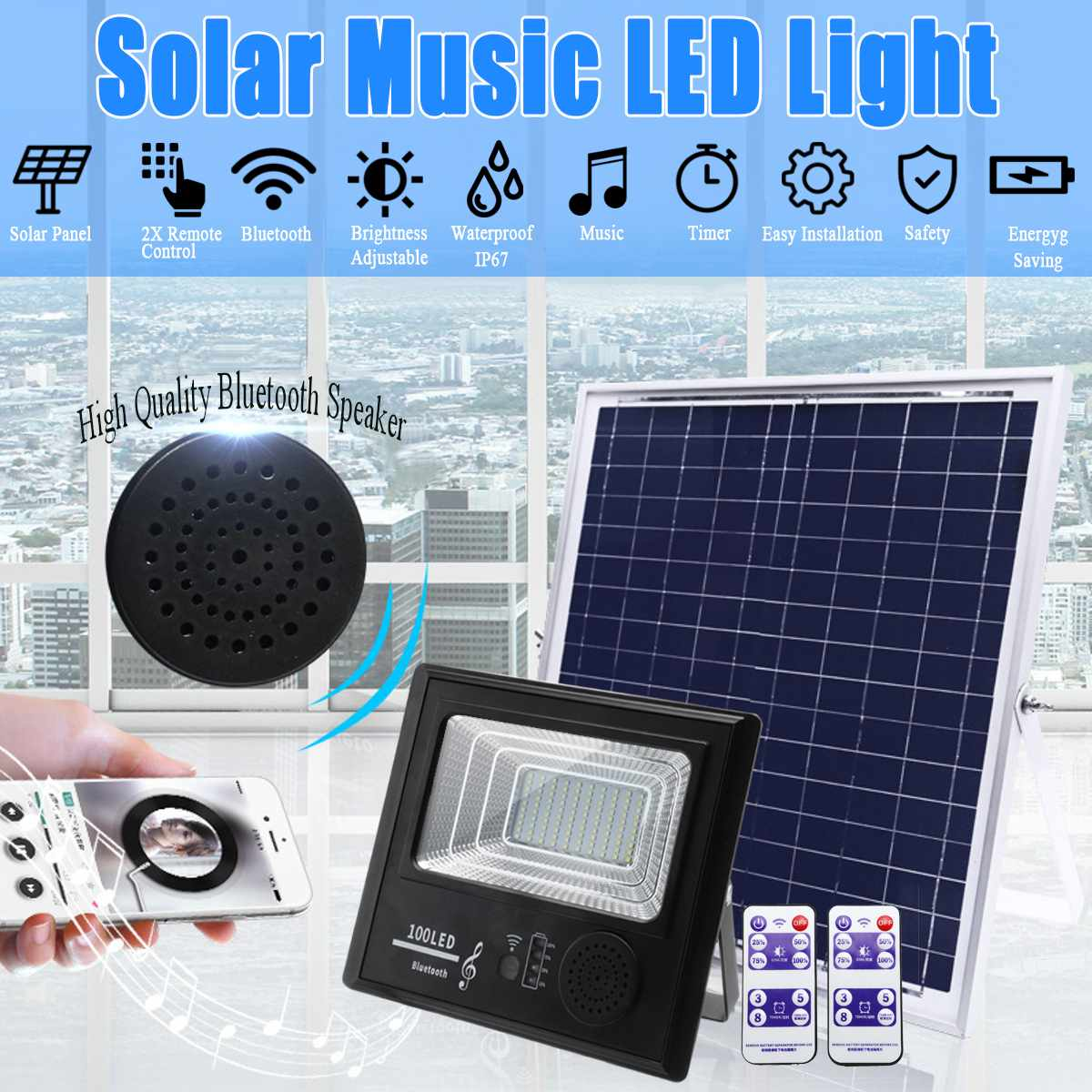 50100192300 LED de Energia Solar 50 W100