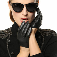 Fashion Trend Genuine Leather Women Gloves 2018 New Female Dance Sheepskin Gloves Short Style Fingers Unlined