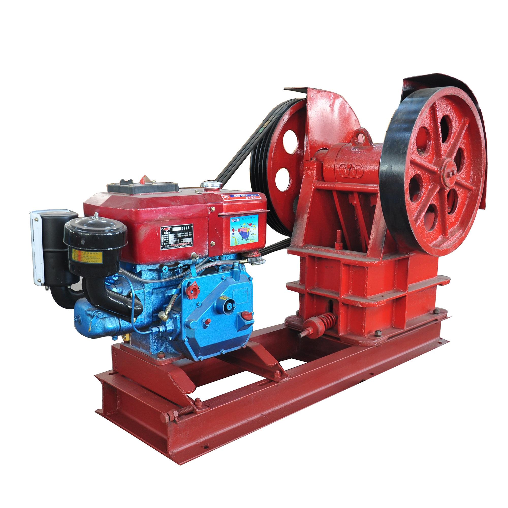PE-150x250 Dual Power Electric Motor Diesel Motor Big Stone Jaw Crusher Crushing Machine For Stones Coal Maganetic