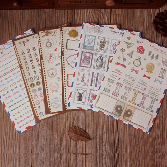 Vintage Daily Planner Stickerstravel Scrapbook Sticker For Diary