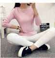 2016 NEW FASHION WOMEN'S Sweater  Pullovers Women Fashion O-Neck Solid Color Long sleeve Knitted Sweater