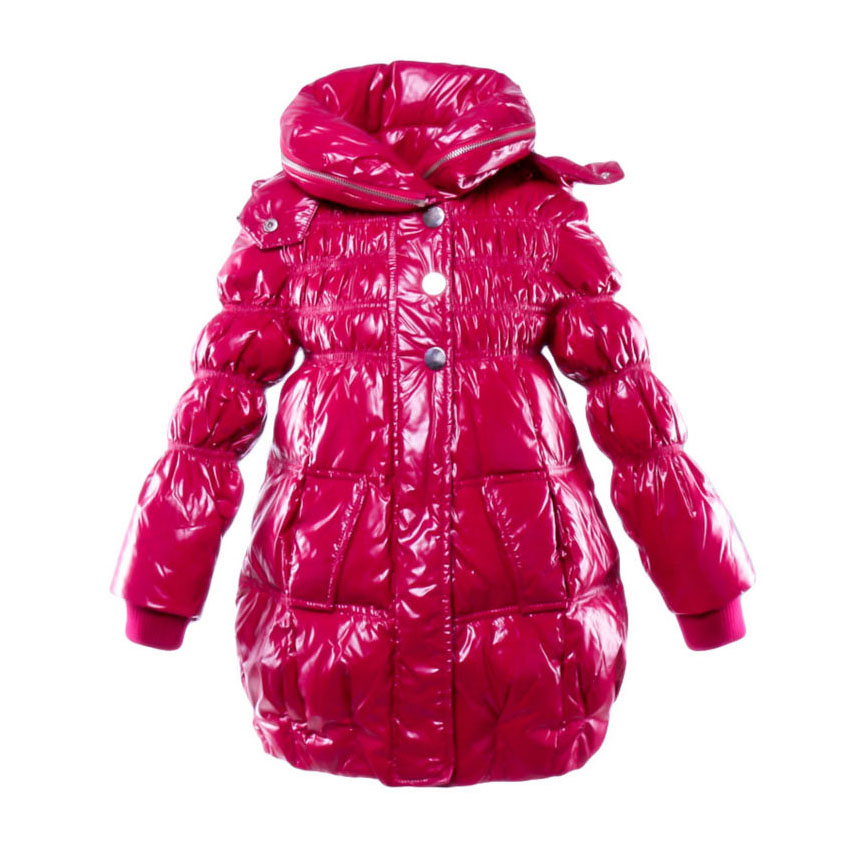 Girls White Duck Down Coat Kids Hoodies Parkas New Style 4 to 6T Child Zipper Jacket Fashion Winter Keep Warm Outerwear  BB6C04