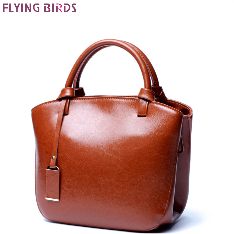 FLYING BIRDS Genuine Leather Bags Women s Designer Handbags famous brands Crossbody Bags High Quality Shoulder