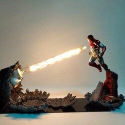 Eisen Mann MK47 Laser Kanone Nacht Licht LED DIY Film Avengers Endgame Eisen Mann Tisch Lampe für Schlafzimmer Dekoration MY1