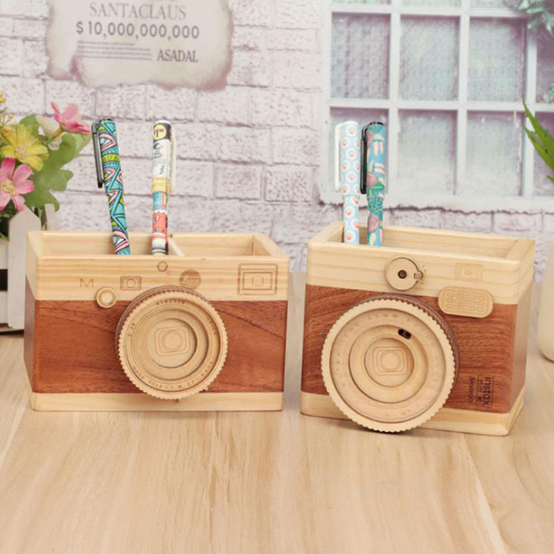 1 Pcs Office Pencil Organizer Camera Shape Pencil Holders for Desk Accessories Pen Holder Stationery Container Office Supplies kingfom 5 pcs modern upscale leather office supplies sets stationery storage box mouse pad card holder desk sets brown t50h