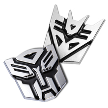 Unicersal 3D Car Stereo Transformers Pure Metal Car Alloy Plating Car Tail Stickers Car Decoration Decepticons Autobots Sticker