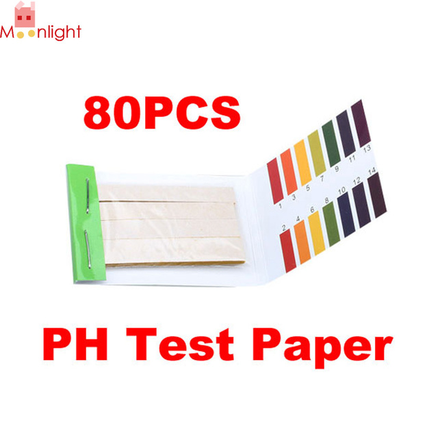 Household Ph Test Paper Full Range 1 14 80 Strips Tester For Garden Soil