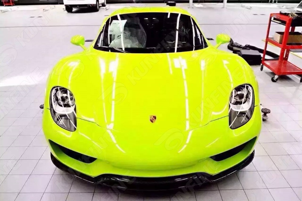 Car Styling Wrap Fluorescence Car Vinyl film Body Sticker Car Wrap With Air Free Bubble For Vehiche Motorcycle 1.52*20M/Roll high quality apple green carbon fiber film vinyl car sticker for car wrapping with air bubble free fedex free shipping 30m roll
