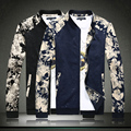 Mens jaquetas e casacos de moda nova queda Dos Homens flores jaqueta chaqueta hombre