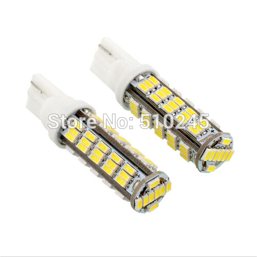 100X wholesale auto lamp DC12V T10 W5W 194 501 White 68 3014 SMD car LED Inverted Side Wedge Light Bulb free shipping